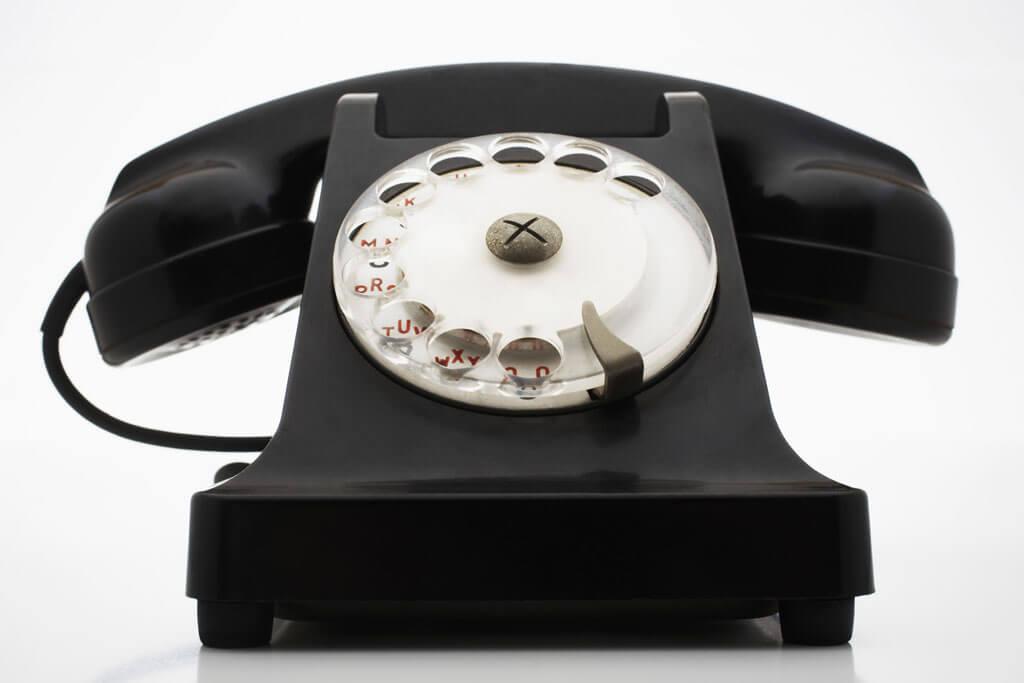 téléphone noir